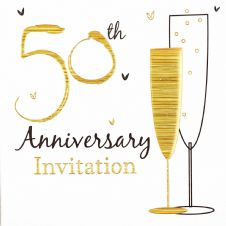 50th Anniversary Golden Anniversary Invitations